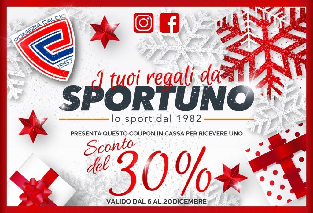 Sportuno, per tutti i tesserati del Pomezia sconto del 30% fino al 20 dicembre