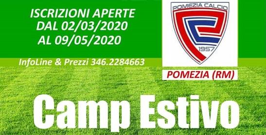 Camp Estivo Pomezia Calcio 15-20 giugno 2020