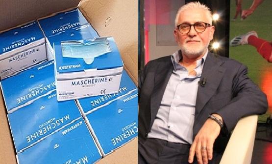 Il Comune di Pomezia ringrazia il Patron Bizzaglia per la donazione di 2000 mascherine